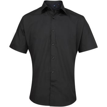 vaatteet Miehet Lyhythihainen paitapusero Premier PR209 Black