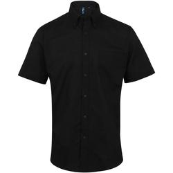 vaatteet Miehet Lyhythihainen paitapusero Premier PR236 Black