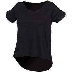 vaatteet Naiset Lyhythihainen t-paita Skinni Fit SK233 Black