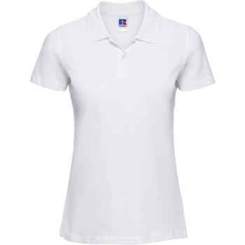 vaatteet Naiset Lyhythihainen poolopaita Russell 569F White