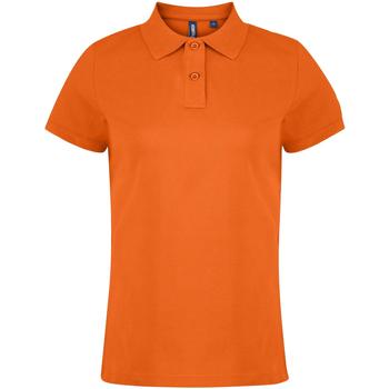 vaatteet Naiset Lyhythihainen poolopaita Asquith & Fox  Orange