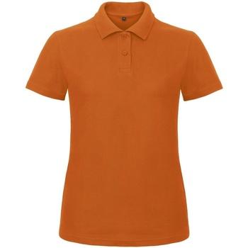 vaatteet Naiset Lyhythihainen poolopaita B And C ID.001 Orange