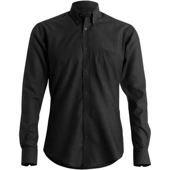 vaatteet Miehet Pitkähihainen paitapusero Kustom Kit KK184 Black