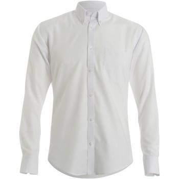 vaatteet Miehet Pitkähihainen paitapusero Kustom Kit KK184 White