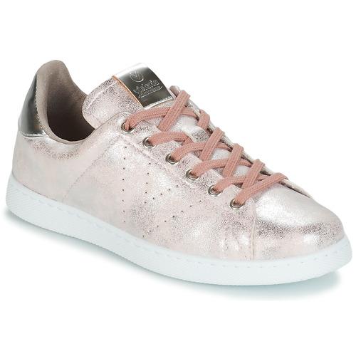 kengät Naiset Matalavartiset tennarit Victoria TENIS METALIZADO Pink