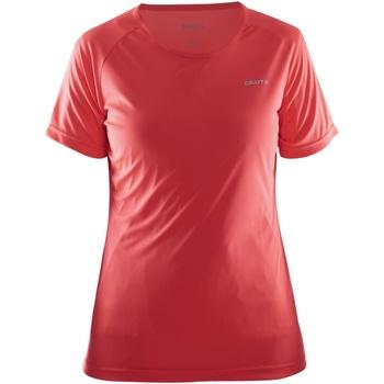 vaatteet Naiset Lyhythihainen t-paita Craft CT86F Red