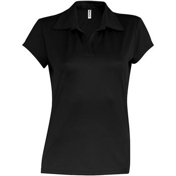 vaatteet Naiset Lyhythihainen poolopaita Kariban Proact PA483 Black