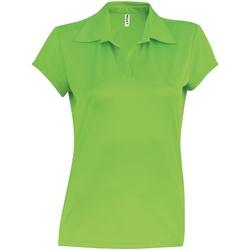 vaatteet Naiset Lyhythihainen poolopaita Kariban Proact PA483 Lime