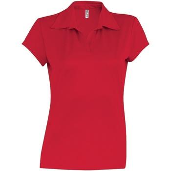 vaatteet Naiset Lyhythihainen poolopaita Kariban Proact PA483 Red