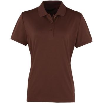 vaatteet Naiset Lyhythihainen poolopaita Premier PR616 Brown