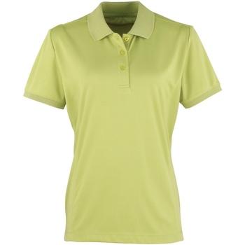 vaatteet Naiset Lyhythihainen poolopaita Premier PR616 Lime