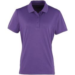 vaatteet Naiset Lyhythihainen poolopaita Premier PR616 Purple
