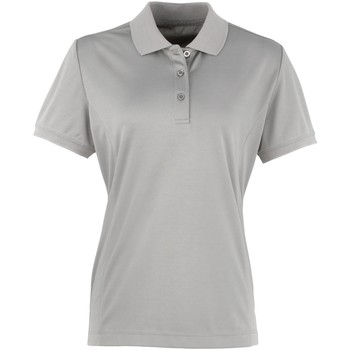 vaatteet Naiset Lyhythihainen poolopaita Premier PR616 Silver