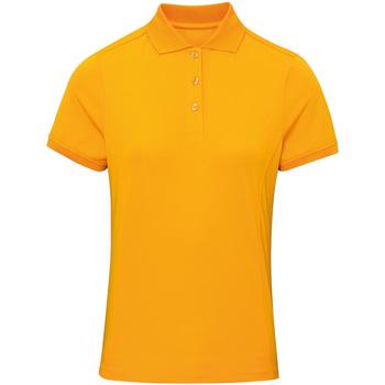 vaatteet Naiset Lyhythihainen poolopaita Premier PR616 Sunflower