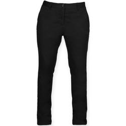 vaatteet Naiset Chino-housut / Porkkanahousut Front Row FR622 Black