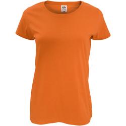 vaatteet Naiset Lyhythihainen t-paita Fruit Of The Loom 61420 Orange