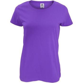 vaatteet Naiset Lyhythihainen t-paita Fruit Of The Loom 61420 Purple