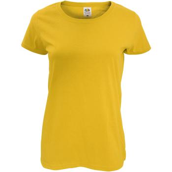 vaatteet Naiset Lyhythihainen t-paita Fruit Of The Loom 61420 Sunflower