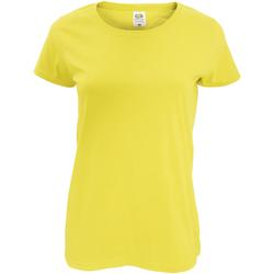vaatteet Naiset Lyhythihainen t-paita Fruit Of The Loom 61420 Yellow