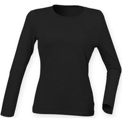 vaatteet Naiset T-paidat pitkillä hihoilla Skinni Fit SK124 Black