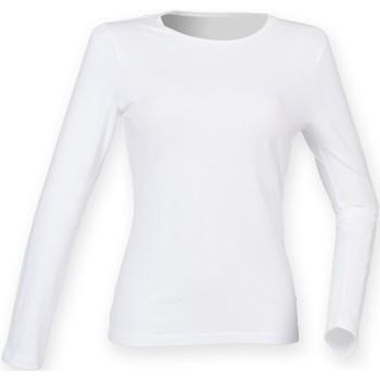 vaatteet Naiset T-paidat pitkillä hihoilla Skinni Fit SK124 White