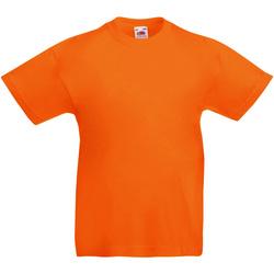 vaatteet Lapset Lyhythihainen t-paita Fruit Of The Loom 61019 Orange