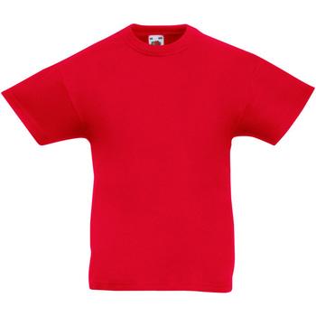vaatteet Lapset Lyhythihainen t-paita Fruit Of The Loom 61019 Red
