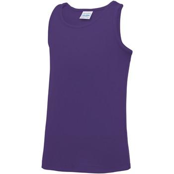 vaatteet Lapset Hihattomat paidat / Hihattomat t-paidat Awdis JC07J Purple
