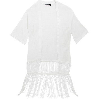 vaatteet Naiset Neuleet / Villatakit Brave Soul Kimono White
