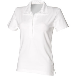 vaatteet Naiset Lyhythihainen poolopaita Front Row FR78M White