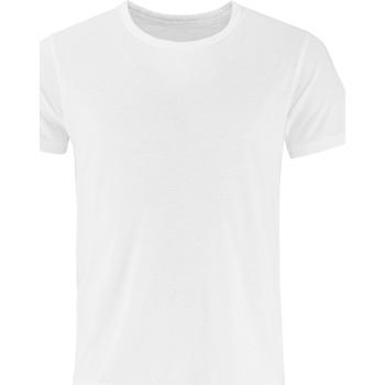 vaatteet Miehet Lyhythihainen t-paita Comfy Co CC040 White