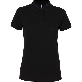 vaatteet Naiset Lyhythihainen poolopaita Asquith & Fox AQ025 Black