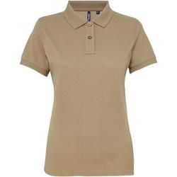 vaatteet Naiset Lyhythihainen poolopaita Asquith & Fox AQ025 Khaki