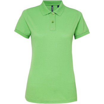 vaatteet Naiset Lyhythihainen poolopaita Asquith & Fox AQ025 Lime