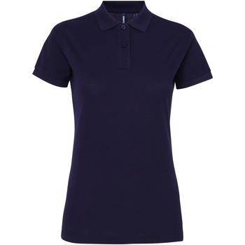 vaatteet Naiset Lyhythihainen poolopaita Asquith & Fox AQ025 Navy