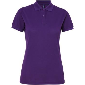 vaatteet Naiset Lyhythihainen poolopaita Asquith & Fox AQ025 Purple