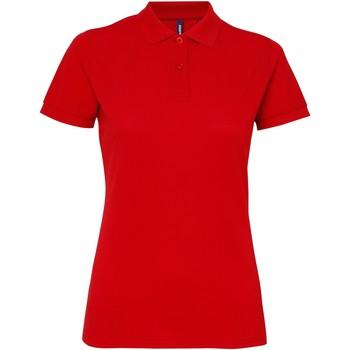 vaatteet Naiset Lyhythihainen poolopaita Asquith & Fox AQ025 Red