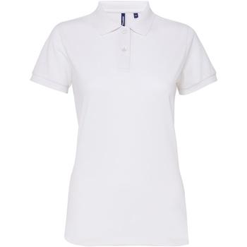 vaatteet Naiset Lyhythihainen poolopaita Asquith & Fox AQ025 White