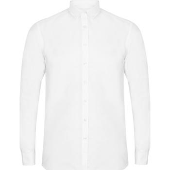 vaatteet Miehet Pitkähihainen paitapusero Henbury HB512 White