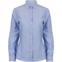 vaatteet Naiset Paitapusero / Kauluspaita Henbury HB513 Blue