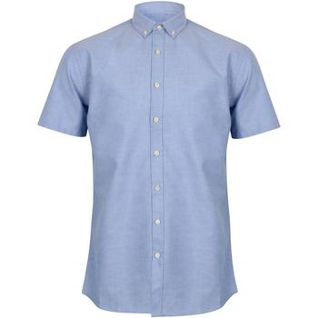 vaatteet Miehet Lyhythihainen paitapusero Henbury HB517 Blue