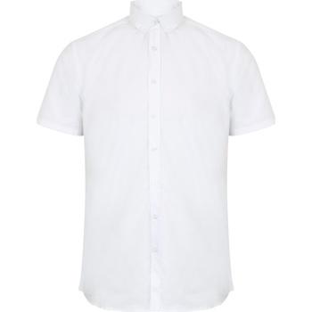 vaatteet Miehet Lyhythihainen paitapusero Henbury HB517 White