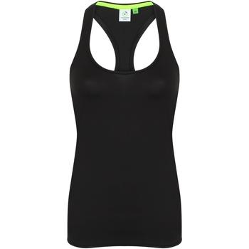 vaatteet Naiset Hihattomat paidat / Hihattomat t-paidat Tombo TL506 Black