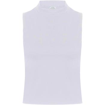 vaatteet Naiset Hihattomat paidat / Hihattomat t-paidat Skinni Fit SK170 White