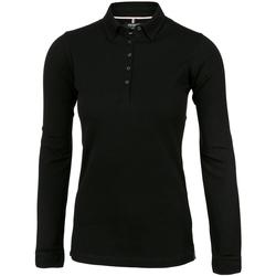 vaatteet Naiset Pitkähihainen poolopaita Nimbus Carlington Black
