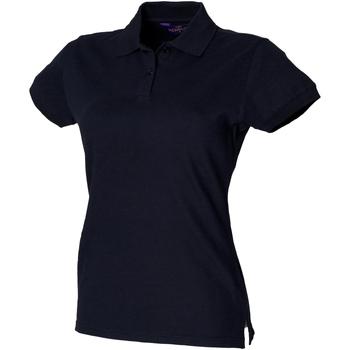 vaatteet Naiset Lyhythihainen poolopaita Henbury HB306 Navy