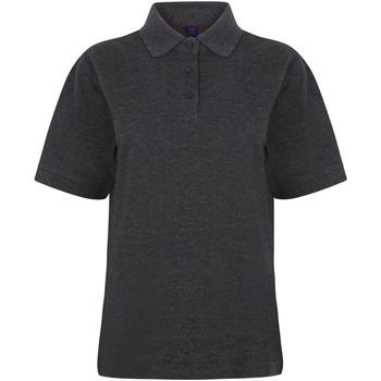 vaatteet Naiset Lyhythihainen poolopaita Henbury HB401 Charcoal