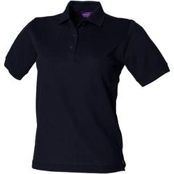 vaatteet Naiset Lyhythihainen poolopaita Henbury HB401 Navy