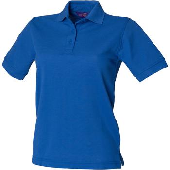 vaatteet Naiset Lyhythihainen poolopaita Henbury HB401 Royal