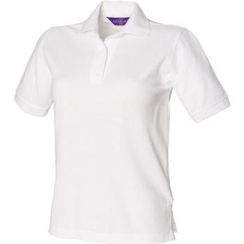 vaatteet Naiset Lyhythihainen poolopaita Henbury HB401 White